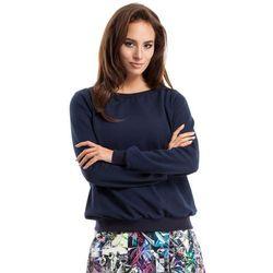 MOE265 Bluza, sweter ze ściągaczem granatowa