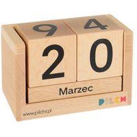Zabawki z drewna, Edukacyjny KALENDARZ na rok z drewna PILCH