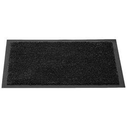 Czarna wycieraczka tekstylna do domu