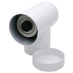 Trójnik 2-ścienny z deklem Spiroflex 60/100 biały