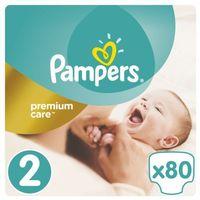 Pieluchy jednorazowe, Pieluchy jednorazowe PAMPERS Premium Care 2 Mini 3-6 kg (80 sztuk)
