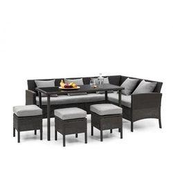 Blumfeldt Titania Dining Lounge Set Komplet mebli ogrodowych, czarny/jasnoszary