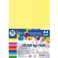 Pozostałe artykuły szkolne, Pianka kolorowa Eva A4 10 kolorów