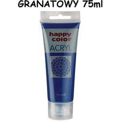 Farba akrylowa 75 ml granatowa Happy Color
