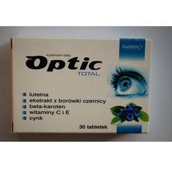 Optic Total tabletki 30 sztuk - zmniejsza uczucia zmęczenia i znużenia oczu Kurier: 13.75, odbiór osobisty: GRATIS!