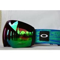 Kaski i gogle, Gogle Oakley Flight Deck Blue Dynamic Flow Strap Prizm Snow Jade Iridium OO7050-A7