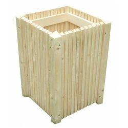 Wysoka drewniana donica ogrodowa 15 kolorów - Sonata