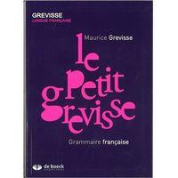 Książki do nauki języka, Petit grevisse Grammaire francaise - Maurice Grevisse (opr. kartonowa)