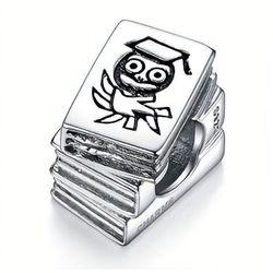 Rodowany srebrny charms pandora książka książeczka sowa book owl srebro 925 SY021
