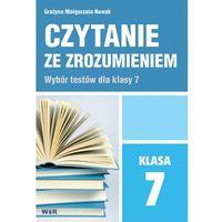 Książki dla dzieci, Czytanie ze zrozumieniem dla klasy 7 SP (opr. broszurowa)