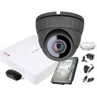 Zestawy monitoringowe, ZM11838 Zestaw do monitoringu kamera IR 25m Rejestrator Hikvision FullHD Dysk 1TB