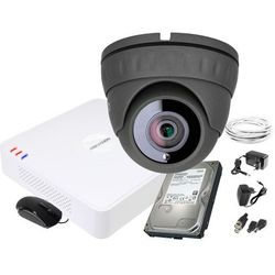 ZM11838 Zestaw do monitoringu kamera IR 25m Rejestrator Hikvision FullHD Dysk 1TB