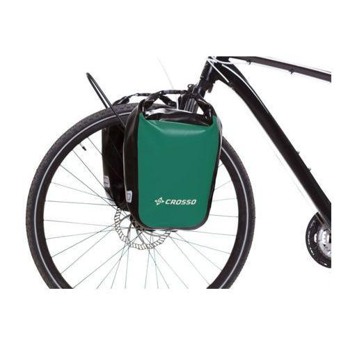 Sakwy, torby i plecaki rowerowe, CO1010.30.86 Sakwy rowerowe Crosso DRY SMALL 30l Zielone zestaw na tył / przód