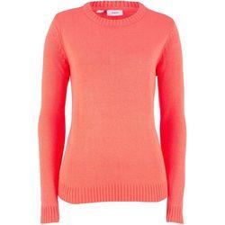 Sweter z golfem, z kaszmirem bonprix jeżynowo-czerwony