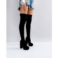 ASOS KELIS Platform Over The Knee Boots - Black