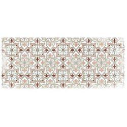 Winylowy chodnik PALMA z motywem cementowych płytek – 66 × 160 cm – wielokolorowy