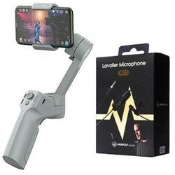 Stabilizator do smartphona Moza Mini MX + Mikrofon Lavalier MIRFAK MC1 - MSG02- Zamów do 16:00, wysyłka kurierem tego samego dnia!
