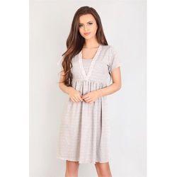 Koszulka nocna Koszula Ciążowa Model 3041 Grey - Lupo Line