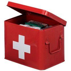 Metalowa apteczka, pudełko medyczne, 22x16x16 cm, ZELLER