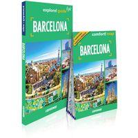 Przewodniki turystyczne, Barcelona 2w1: przewodnik light + mapa (opr. miękka)