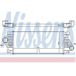 Chłodnica powietrza doładowującego - intercooler NISSENS 96705