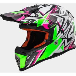 KASK LS2 MX437 FAST STRONG WHITE/GREEN/PINK