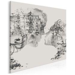 Kochankowie z Werony - nowoczesny obraz na płótnie - 80x80 cm