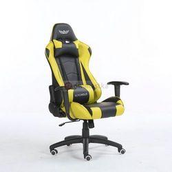 Obrotowy fotel gamingowy NORDHOLD - YMIR - żółty