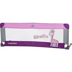 Bariera ochronna CARETERO do łóżka Safari Giraffe fioletowy + DARMOWY TRANSPORT!