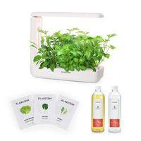 Nasiona, Klarstein GrowIt Cuisine Zestaw startowy III 10 roślin oświetlenie LED nasiona sałat pożywka płynna