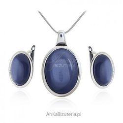 ankabizuteria.pl Komplet biżuteria srebrna z granatowym uleksytem - naomi