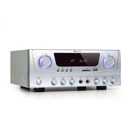 Auna Amp-2 BT, HiFi wzmacniacz, RMS 2 x 50 W, BT, USB, SD, 2 x mikrofonowe wejście
