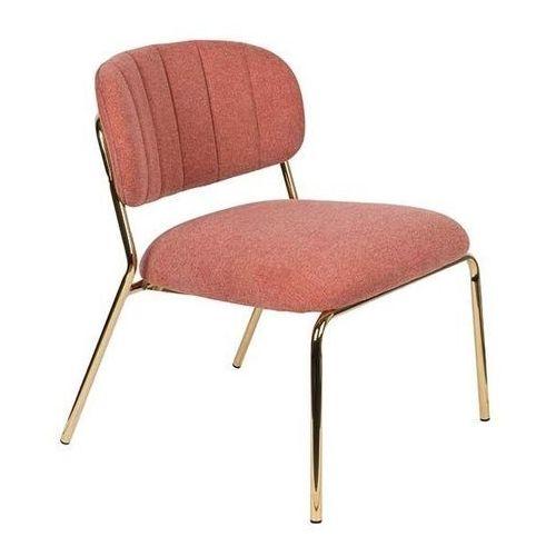 Fotele i krzesła biurowe, Orange Line Fotel JOLIEN złoty/różowy 3100109
