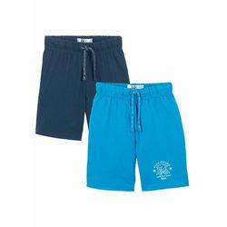 Bermudy shirtowe chłopięce (2 pary) bonprix ciemnoniebiesko-niebieski oceaniczny