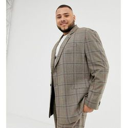 COLLUSION Plus oversized suit jacket in brown window pane check - Brown