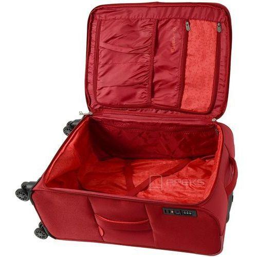 Torby i walizki, Travelite Capri duża poszerzana walizka 76 cm / czerwona - czerwony ZAPISZ SIĘ DO NASZEGO NEWSLETTERA, A OTRZYMASZ VOUCHER Z 15% ZNIŻKĄ