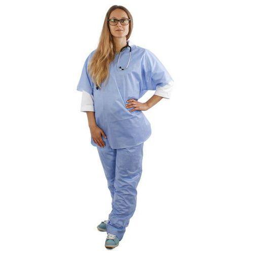Ubrania medyczne, Komplet chirurgiczny bluza + spodnie z SMS (10 szt) L 40
