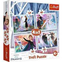 Puzzle, Puzzle 4w1 W magicznym lesie Frozen 2 Kraina Lodu + 2-gi zestwa 10% TANIEJ!!