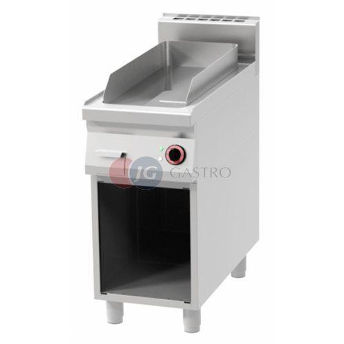 Grille gastronomiczne, Płyta grillowa elektryczna pojedyncza ryflowana Red Fox linia 900 FTR 90/40 E