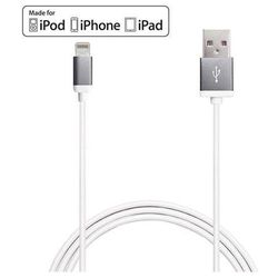 PURO Metal - Kabel połączeniowy USB Apple złącze Lightning 1m MFI (space grey)