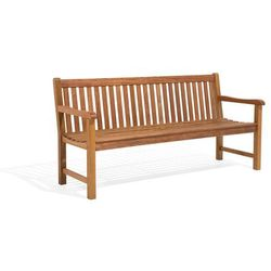 Ławka ogrodowa drewniana 180 cm poducha ceglasta JAVA