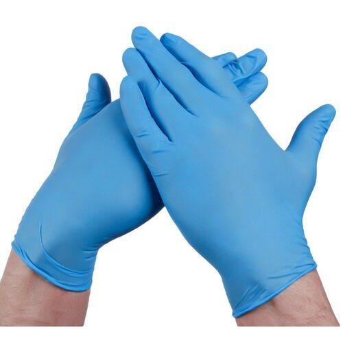 Ubrania medyczne, Bezpudrowe rękawiczki nitrylowe (100 szt) S Niebieski