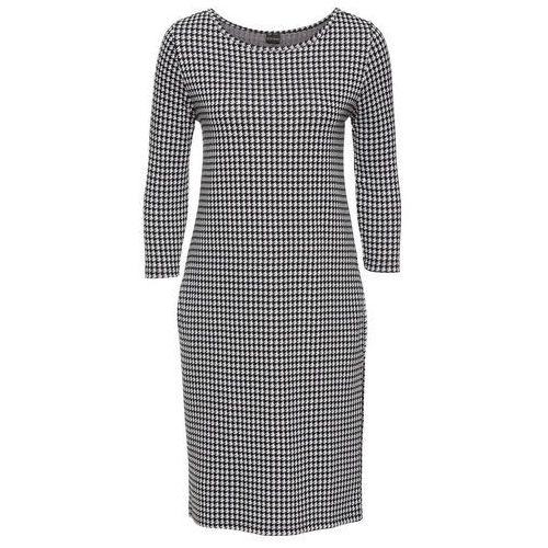 Suknie i sukienki, Sukienka bonprix czaro-biały