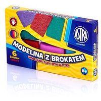 Modelina, Modelina z brokatem 6 kolorów ASTRA