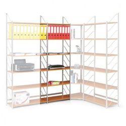 Regał biurowy, podstawowy, 2030 x 600 x 365 mm, czereśnia
