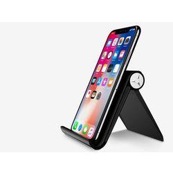 Uniwersalny stojak podstawka uchwyt pod telefon tablet czarny - Czarny