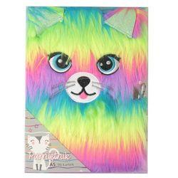 Pamiętnik z kłódką A5 96k Rainbow Cat