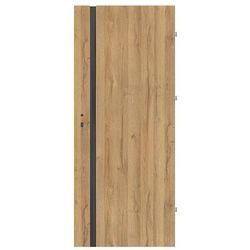 Drzwi pokojowe Exmoor 80 prawe dąb grandson czarna szyba