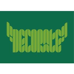 """Napis 68 """"Decorate"""" - naklejka do dekoracji dowolnej powierzchni"""