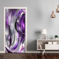 Fototapeta na drzwi - Tapeta na drzwi - Fioletowa abstrakcja bogata chata